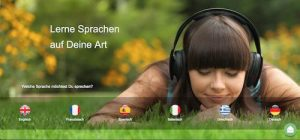 -Learning-Plattform für webbasiertes, auditives Lernen von Fremdsprachen