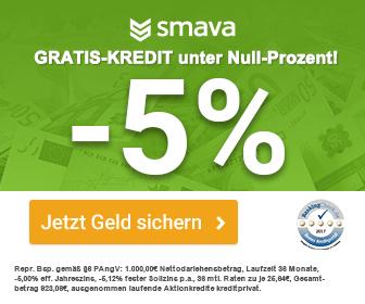 -5% Kredit hier zum Sofortabholen.